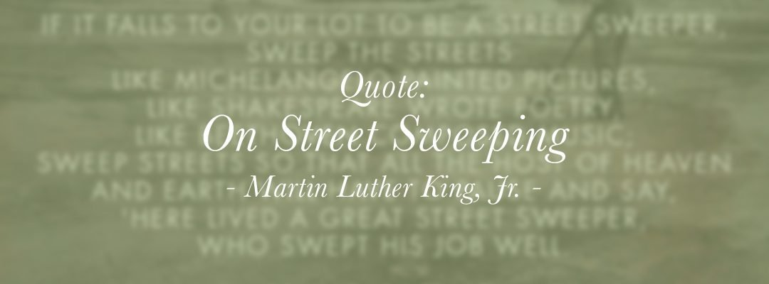 Quote: On Street Sweeping