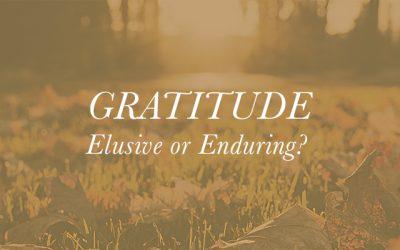 Gratitude – Elusive or Enduring?