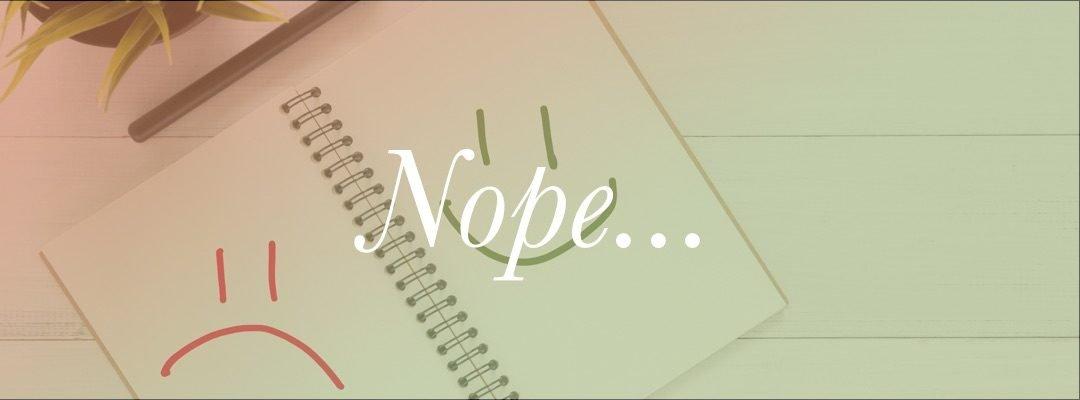 Nope…